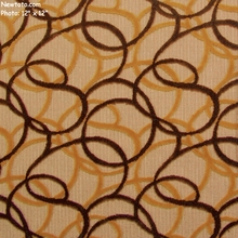 """Converge - Goldstone"" Velvety Tuft Twirl Pattern Fabric from Designtex�"