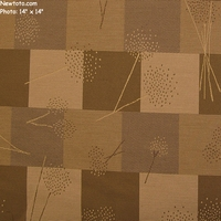 """Dandylion - Sandstone"" Earthtone Patchwork Upholstery Fabric with Botanic Details"