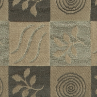 """Matrix - Stone"" Modern Taupe Designer Upholstery Fabric by Valdease"