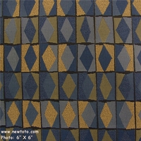 """Diamond Derby - Cornflower"" Contemporary Geometric Design Fabric from Arc-Com Fabrics, Inc"