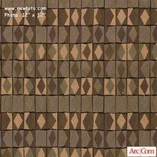 """Diamond Derby - Earth"" Contemporary Geometric Design Fabric from Arc-Com Fabrics, Inc"