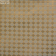 """""""Disc-o - Cool"""" Embroidered Fabric with Geometric Design from Pollack Fabrics"""