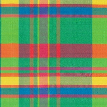 """Dupioni Silk - Checks"" Colorful Iridescent Neon Plaid 100% Silk Fabric Decor"