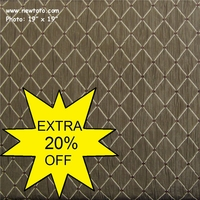 """""""Durham - Mineral-Taupe"""" Matelass� Crushed Satin Fabric with Chenille"""