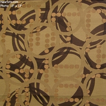 """Escapade - Bronze"" Crypton� with Ring, Dot, and Swirl Design from Mayer Fabrics"