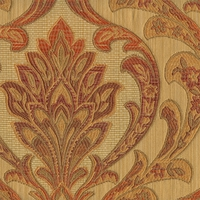 """Wesley - Harvest"" Elegant Orange Gold Damask Upholstery Fabric by Kalin"