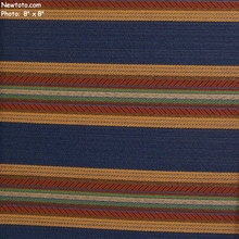 """Ferry Bridge - Royal"" Colorful Stripe Upholstery Fabric from Arc-Com Fabrics, Inc"
