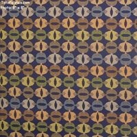 """Firefly - Peacock"" Circle Cat Eye Upholstery Fabric from CF Stinson Inc"