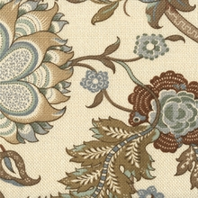 """Somerset - Hickory"" Luxury Floral Print Fabric for Home Decor from Kravet Inc"