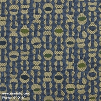 """Fox Trot - Baltic"" Durable Geometric Jacquard from Pollack Fabrics"