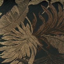 """Yaffa - Onyx"" Tropical Leaf Botanical Upholstery Fabric by Swavelle/Mill Creek Hospitality"