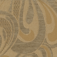"""Eclipse - Haze"" Gold Taupe Retro Paisley Chenille Fabric for Furniture Upholstery"