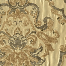 """Allissa - Sage"" Grand Chenille Damask Matelasse Fabric for Upholstery"