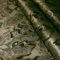 """Espirit - Fern"" Luster Gray Floral Tapestry Fabric from Swavelle/Mill Creek"