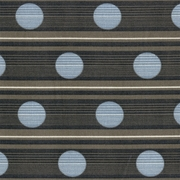 """Route - Arsenic"" Gray Stripe Blue Dot Fabric Decor Print from Bernhardt Textiles"