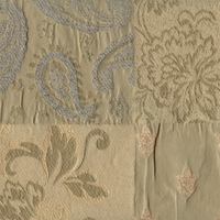 """Coventry - Willow"" Paisley and Floral Matelasse Fabric for Home Decor (As-Is)"