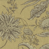 """Fanciful - Ironstone"" Designer Green Floral Fabric for Home Decor by Waverly"
