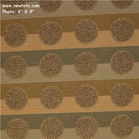 """""""Honor Plus - Fog"""" Stripe and Dot Upholstery Fabric from Designtex"""