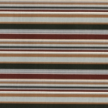 """Octavia - Fall Forest"" Horizontal Stripe Decor Fabric Print by Corber Industries"