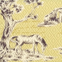 """Countryside - Cornsilk"" Unique Quilted Horse Fabric Print from Microfibres"