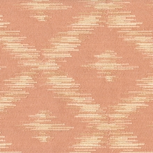 """McKeel - Peach""  Ikat Diamond Designer Upholstery Fabric by Robert Allen"