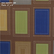 """""""Imprint - Truffle"""" Square and Dot Vinyl Fabric from Momentum Textiles"""