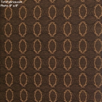 """Interlace - Espresso"" Upholstery Fabric with Overlapping Ovals from Pallas� Textiles"