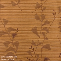 """Jardin - Walnut"" Floral Crypton� Stripe Fabric for Upholstery from Arc-Com Fabrics, Inc"