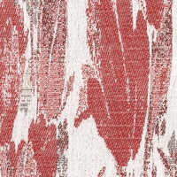"""Jetstream - Red"" White Contemporary Floral Tapestry Fabric for Home Decor"