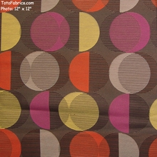 """""""Kudos - Rolling Stone"""" Colorful Overlapping Circle Fabric for Upholstery from Momentum Textiles"""