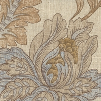 """Ariel - Spa"" Gorgeous Floral Print Fabric for Home Decor from Microfibres(R)"