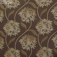"""Laurel - Bark"" Large Floral Design Fabric for Upholstery from Arc-Com Fabrics, Inc"