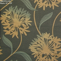 """Laurel - Caribbean"" Large Floral Design Fabric for Upholstery from Arc-Com Fabrics, Inc"