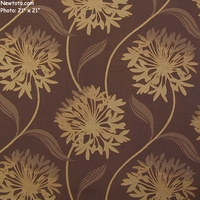 """Laurel - Eggplant"" Large Floral Design Fabric for Upholstery from Arc-Com Fabrics, Inc"