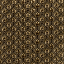 """Leaf Diamond - Mocha"" Classic Gold Upholstery Fabric by Mastercraft Fabrics�"