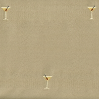 """Martini - Seabreeze"" Jet Set Martini Cocktail Glass for Novelty Upholstery Fabric"