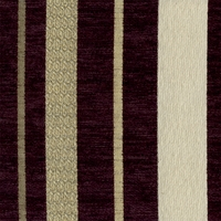 """Mellissa - Eggplant"" Rich Plum Stripe Chenille by Kalin Fabrics for Upholstery"