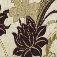 """Melody - Eggplant"" Rich Plum Floral Chenille by Kalin Fabrics for Upholstery"