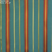 """Meridian - Ocean"" Colorful Bengal Stripe Design Fabric from Arc-Com Fabrics, Inc"
