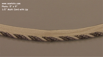 """Mixed - Stone Arrow"" � Inch Multi Cord with Lip from Phoenix Trim Works"