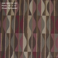 """Murano - Storm"" Geometric Stripe Fabric for Upholstery from Arc-Com Fabrics, Inc"