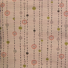 """Nagoya - Miso"" Upholstery Fabric with Dots and Dashes from Momentum Textiles"
