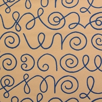 """Names - Ultramarine on White"" Modern Line Art Upholstery Fabric from Maharam Fabric Co"