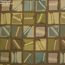"""Neon - Daytime"" Colorful Geometric Upholstery Fabric from Momentum Textiles"