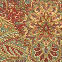 """Swept Away - Berry"" Fabulous Paisley Print Fabric for Home Decor by Waverly"