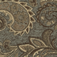 """Tammarack - Jade"" Rich Paisley Scroll Upholstery Fabric by Swavelle/Mill Creek"