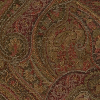 """""""Coraggio - Henna"""" Vintage Paisley Chenille Upholstery Fabric by Robert Allen"""