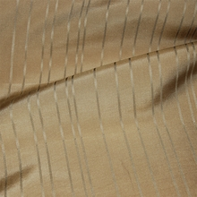 """Taffeta Stripe - Cream"" Classic Pale Gold Silk Striped Drapery Decor Fabric"