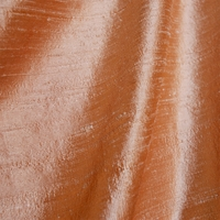 """Slub - Silk"" Gorgeous Dupioni Peach 100% Silk Fabric for Decor and Drapery"