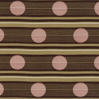 """Route - Beetroot"" Pink Dot Brown Stripe Fabric Decor Print from Bernhardt Textiles"